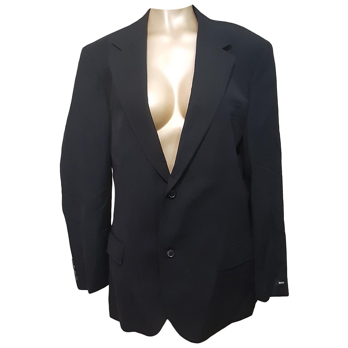 Boss \N Black Wool jacket  for Men 54 IT