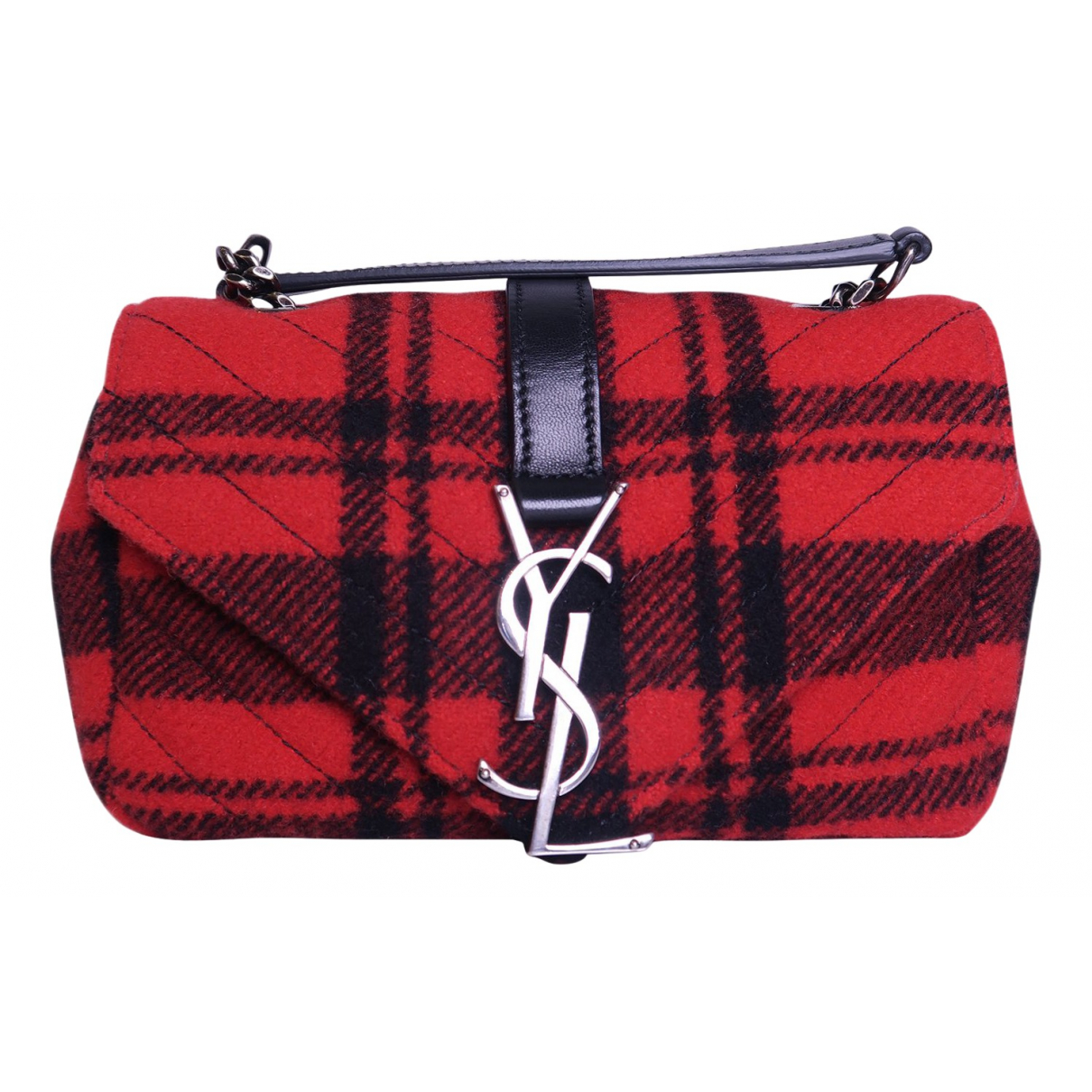 Saint Laurent - Sac a main   pour femme en laine - rouge