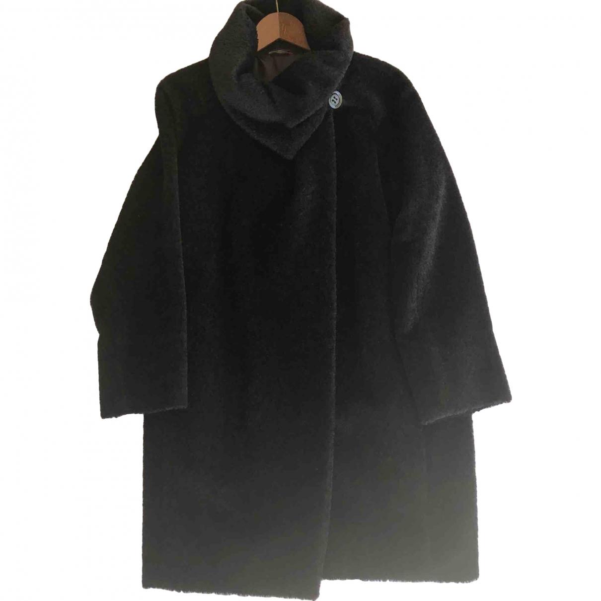 Max Mara Studio \N Black Wool coat for Women 42 FR