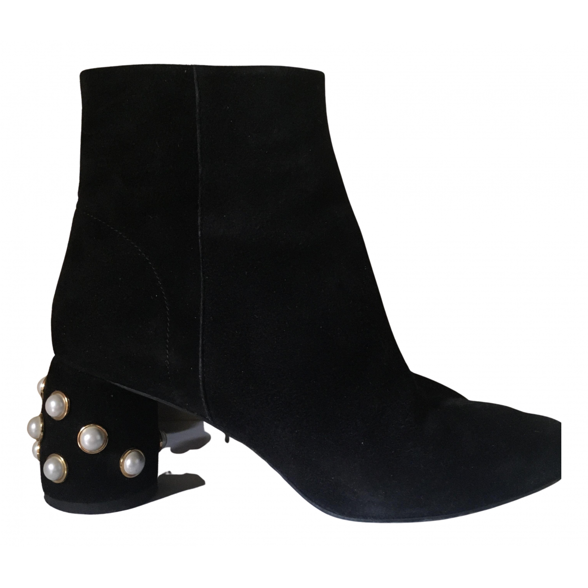 & Other Stories - Boots   pour femme en suede - noir