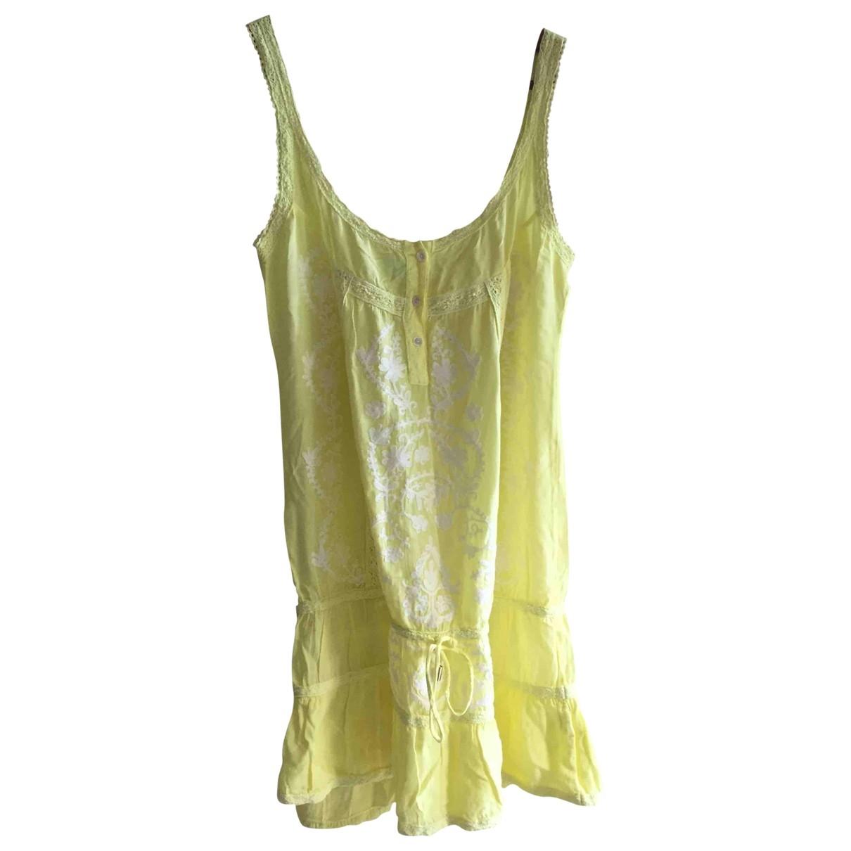 Melissa Odabash \N Kleid in  Gelb Baumwolle
