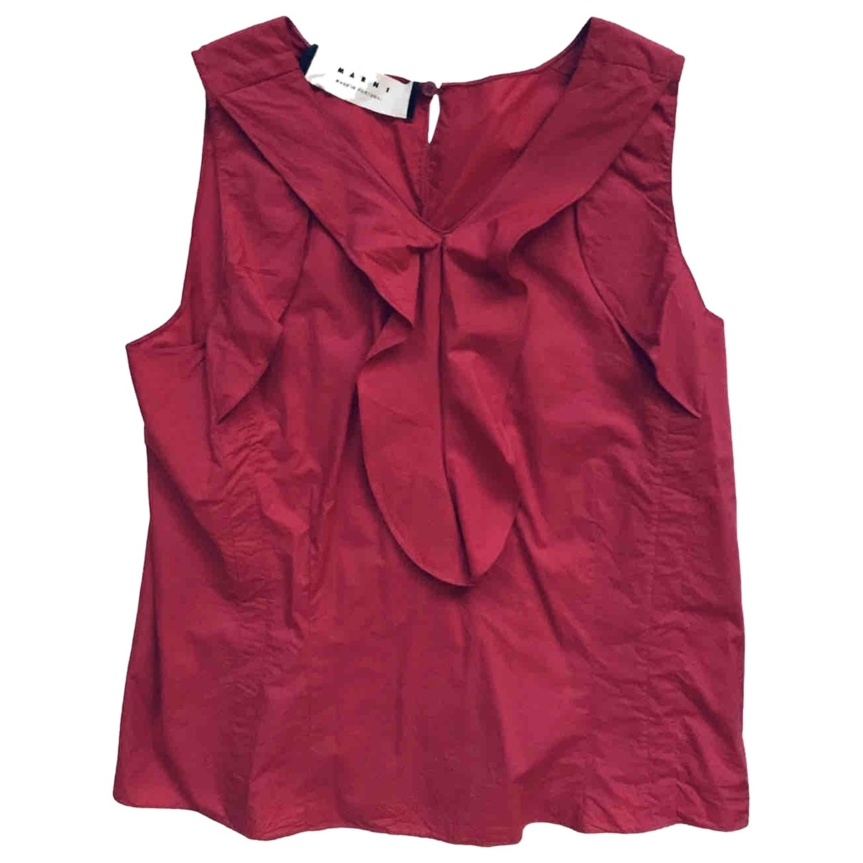 Marni - Top   pour femme en coton - bordeaux