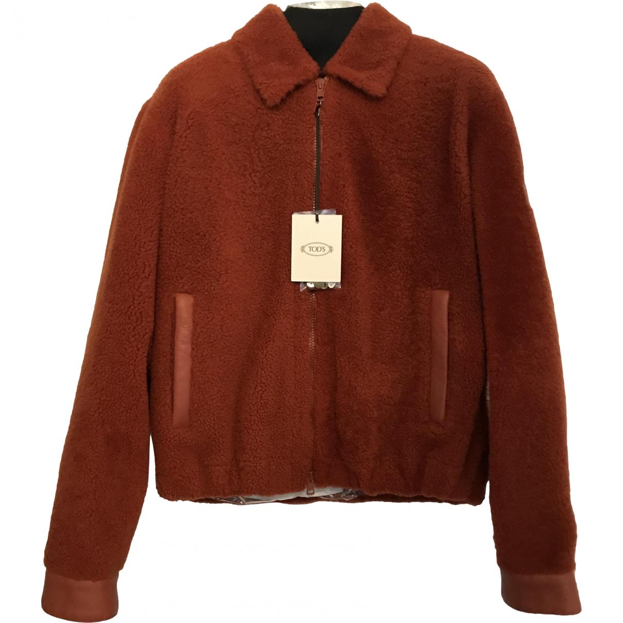 Tods - Veste   pour femme en mouton - orange