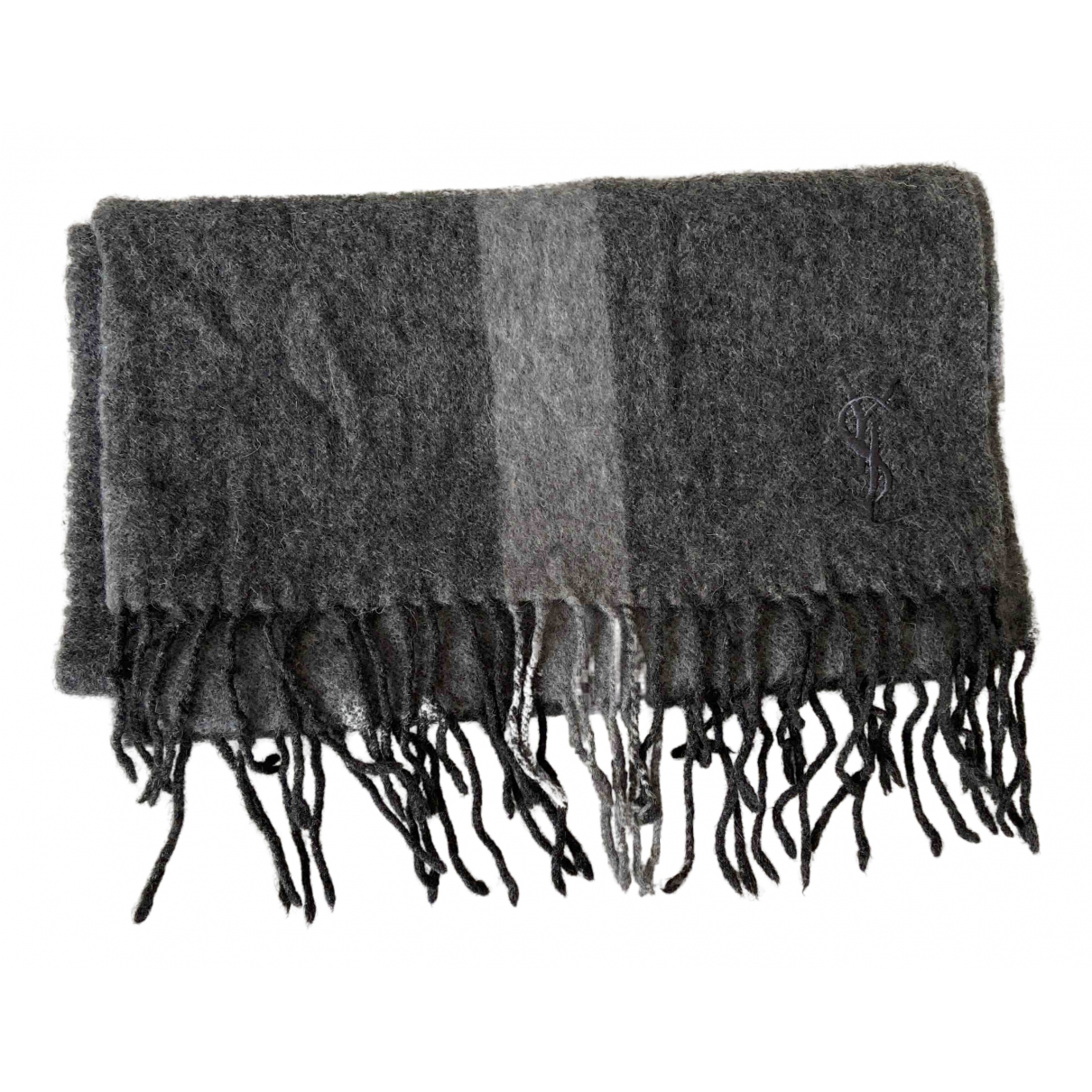 Yves Saint Laurent \N Tuecher, Schal in  Grau Wolle