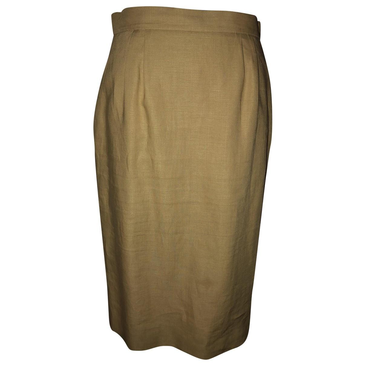Hermes - Jupe   pour femme en lin - beige