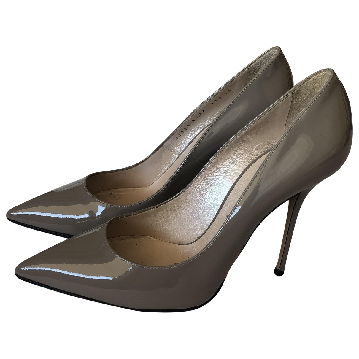 Casadei \N Grey Patent leather Heels for Women 38 EU