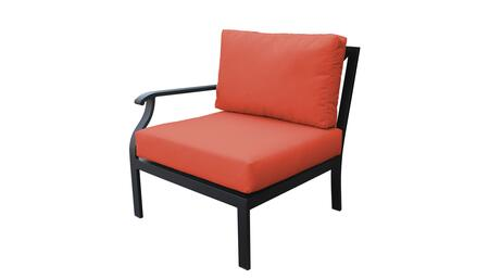 KI062b-RAS-TANGERINE Madison Ave. Right Arm Chair with 1 Set of Snow and 1 Set of Persimmon