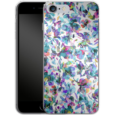 Apple iPhone 6s Plus Silikon Handyhuelle - Aquatic Flowers Blue von Ninola Design