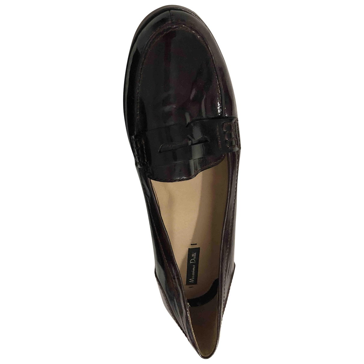 Massimo Dutti \N Burgundy Patent leather Flats for Women 40 EU