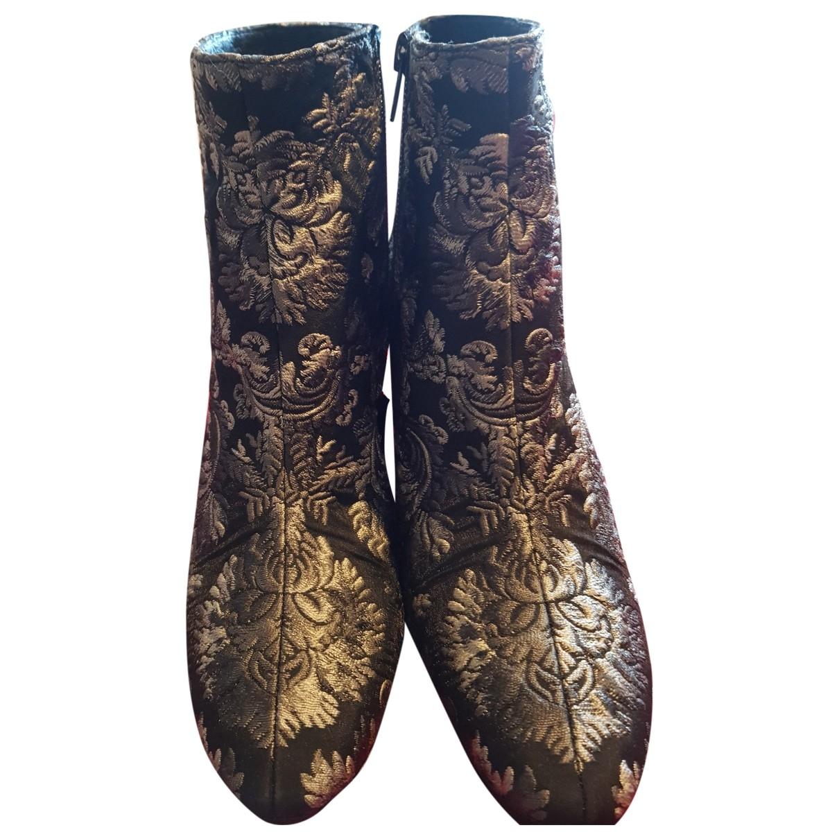 - Boots   pour femme en toile - gris