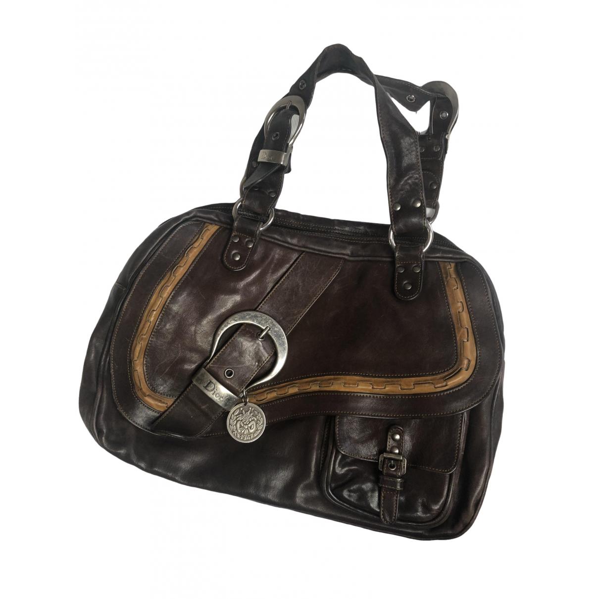 Dior Gaucho Brown Leather handbag for Women \N