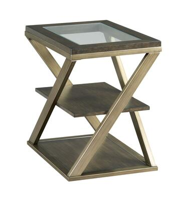 Jupiter Collection 543-916 CHAIRSIDE TABLE in Smokey Brown Otter and Glazed