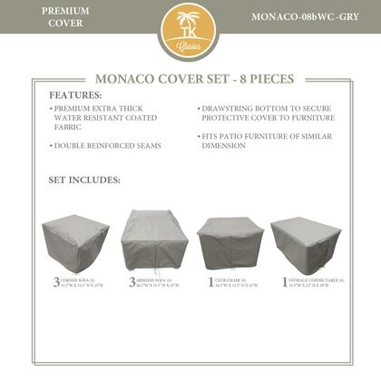 MONACO-08bWC-GRY Protective Cover Set  for MONACO-08b in