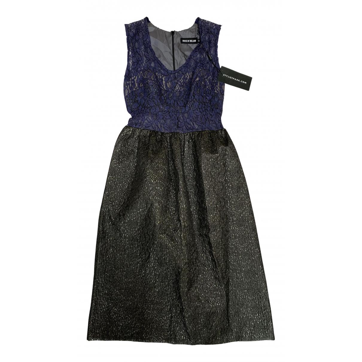 House Of Holland \N Kleid in  Blau Polyester