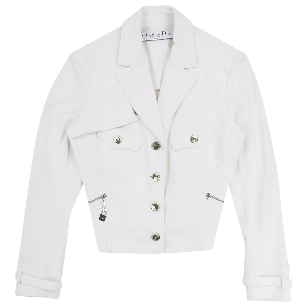 Dior \N Jacke in  Weiss Denim - Jeans