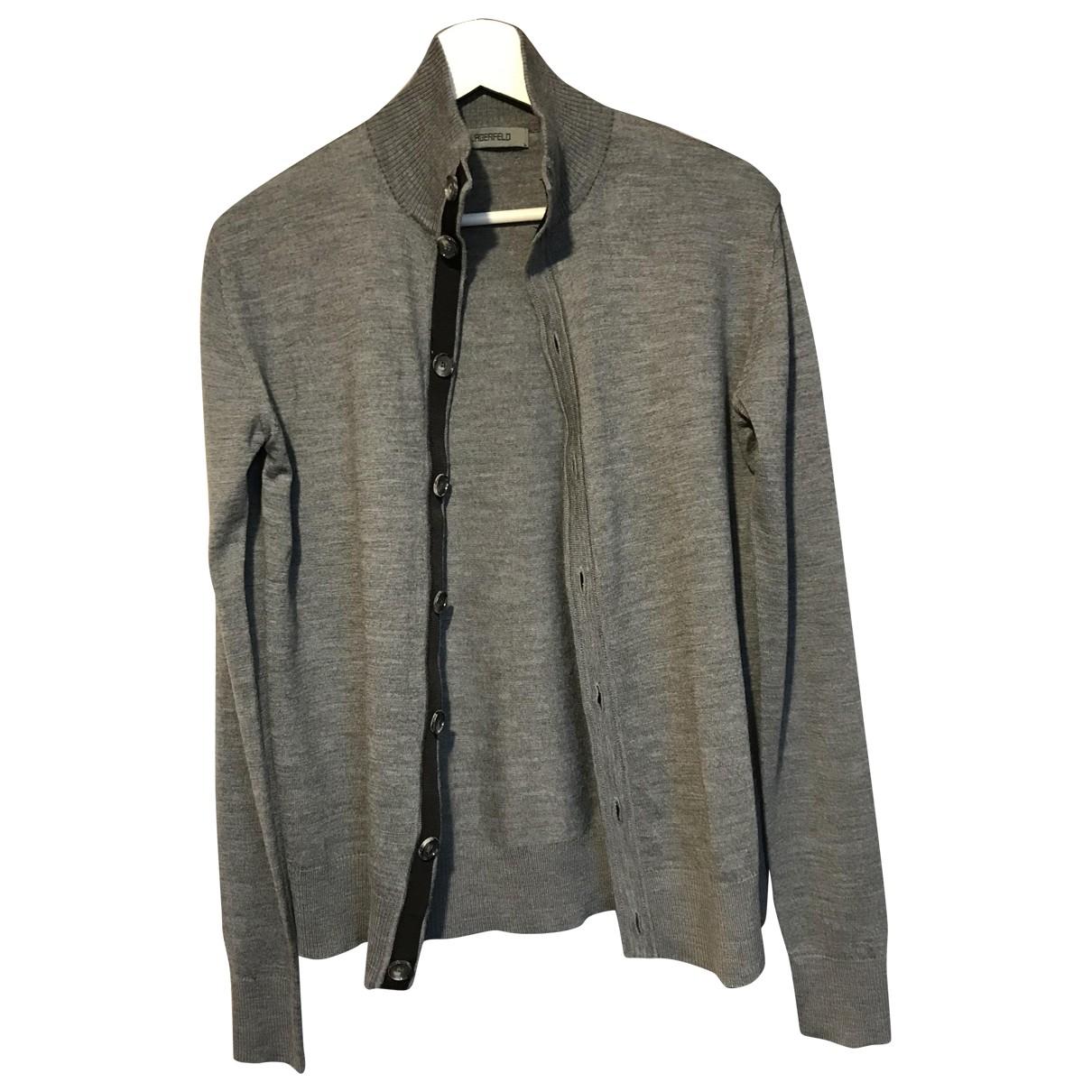 Lagerfeld Gallery \N Pullover.Westen.Sweatshirts  in  Grau Wolle