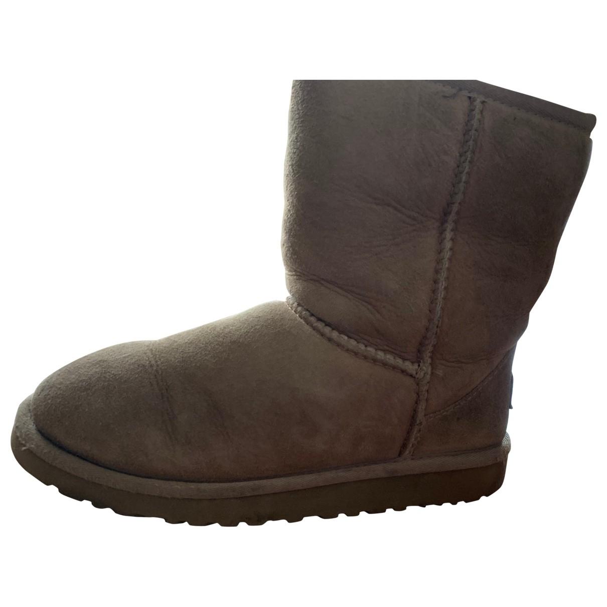 Hugo Boss \N Beige Suede Boots for Kids 32 EU