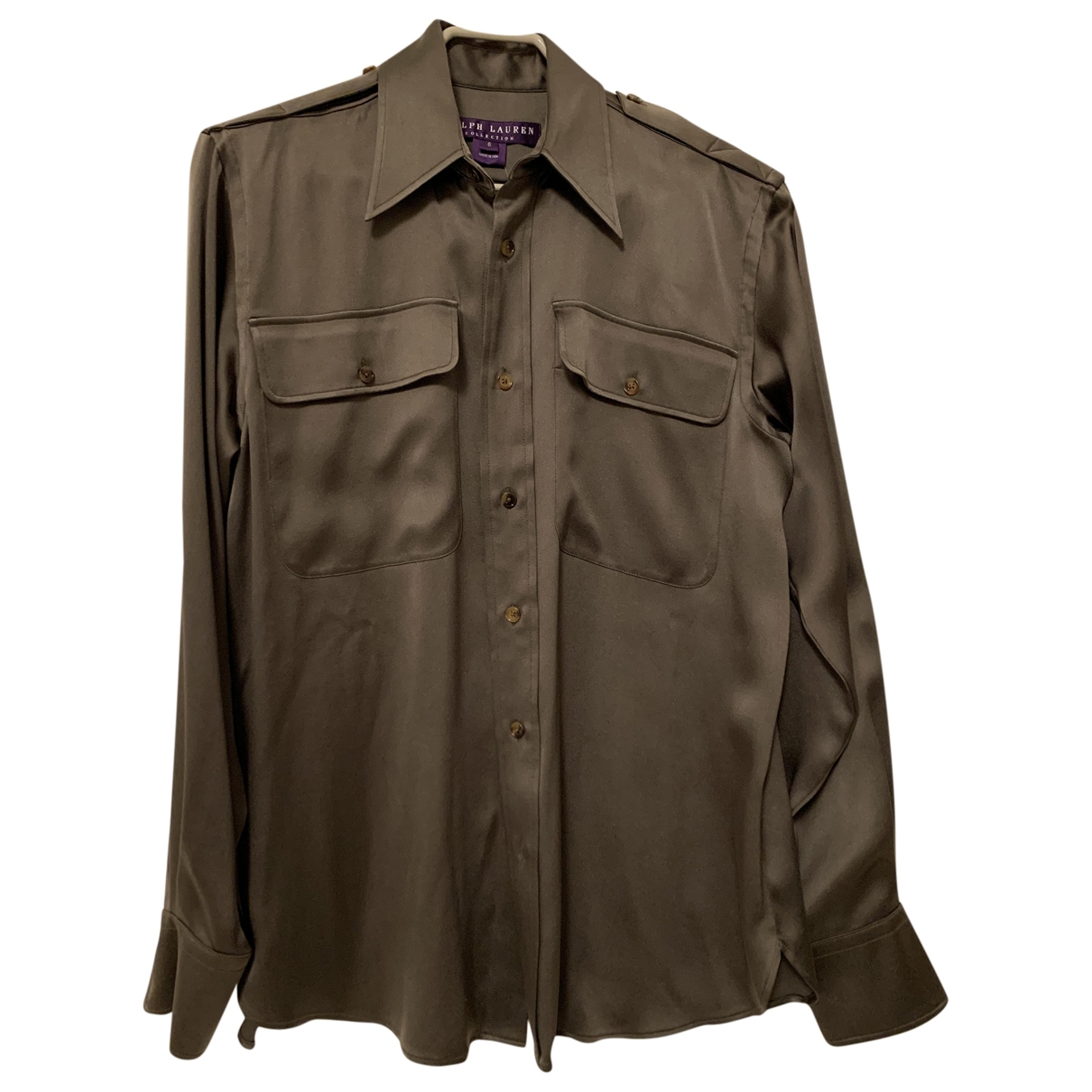 Ralph Lauren Collection \N Green Silk  top for Women 6 US
