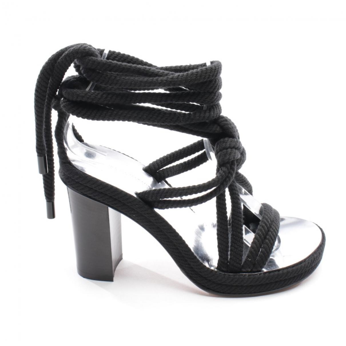 Isabel Marant \N Black Cloth Sandals for Women 35 EU
