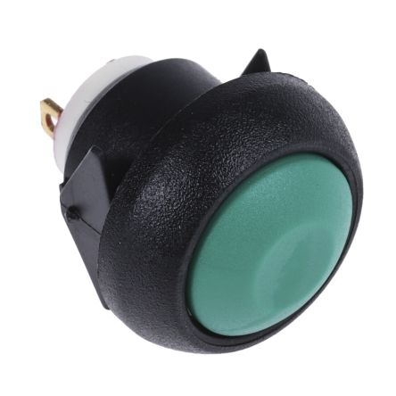 APEM Single Pole Single Throw (SPST) Momentary Miniature Push Button Switch, IP67, 13.6 (Dia.)mm, Panel Mount, 32V ac