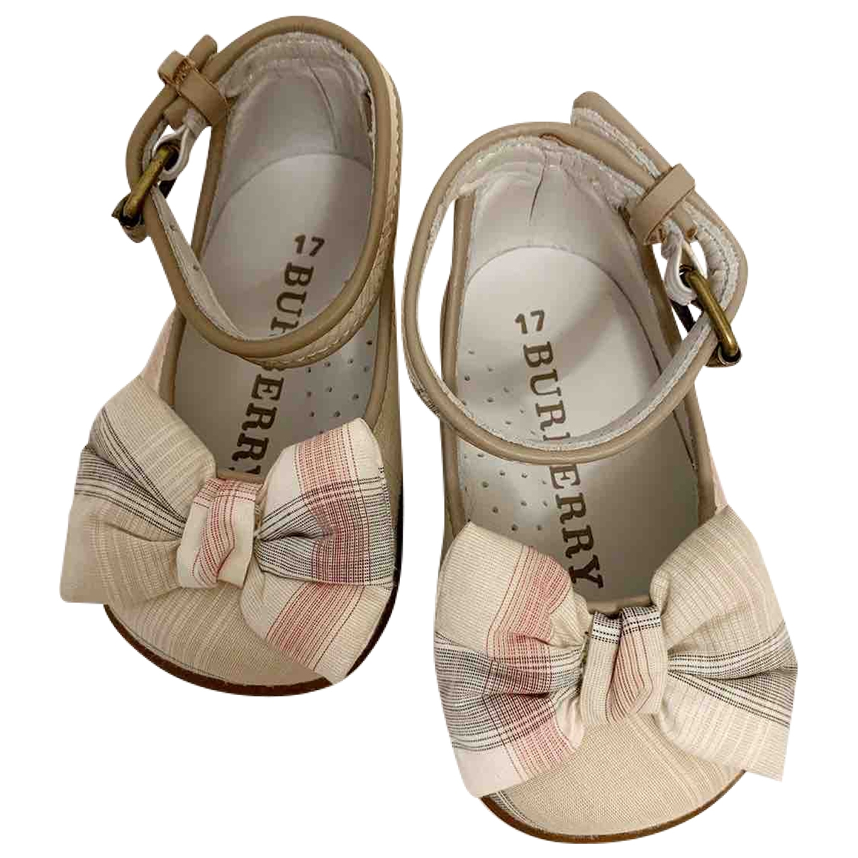 Burberry \N Beige Cloth Ballet flats for Kids 17 EU