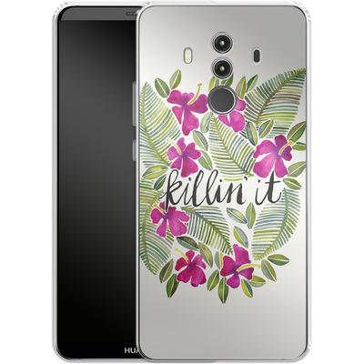 Huawei Mate 10 Pro Silikon Handyhuelle - Killin It Pink von Cat Coquillette