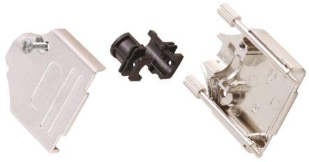 MH Connectors , MHDTZK-RA Zinc D-sub Connector Backshell, 25 Way, Strain Relief, Silver