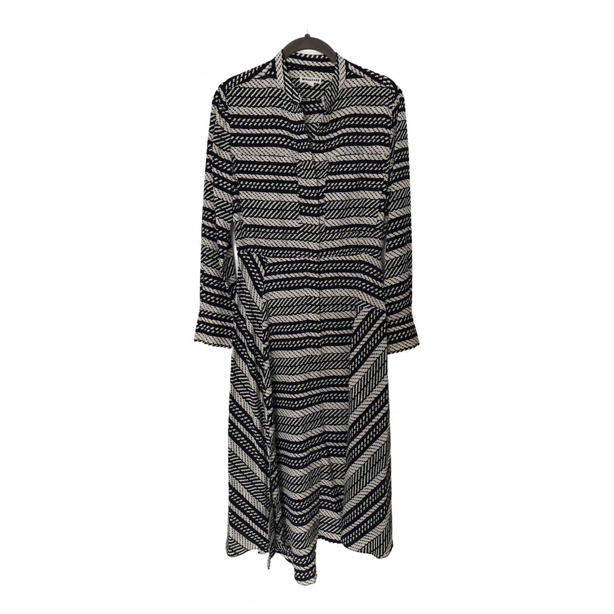 Whistles - Robe   pour femme en soie - noir