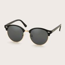 Half Acrylic Frame Sunglasses
