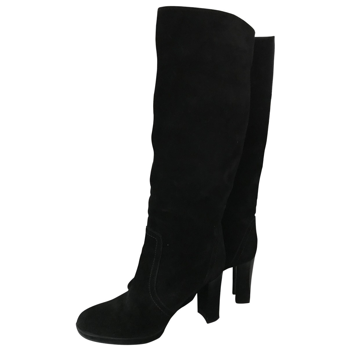 Sergio Rossi \N Black Suede Boots for Women 38 EU