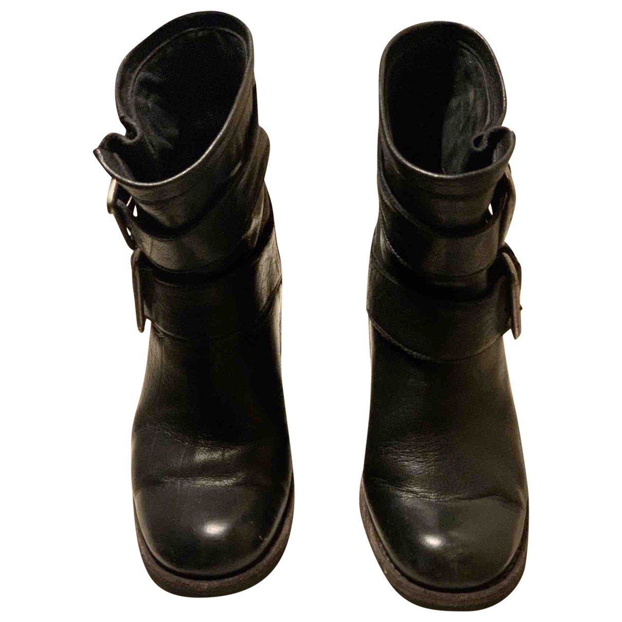 Free Lance Queenie Black Leather Ankle boots for Women 35.5 EU