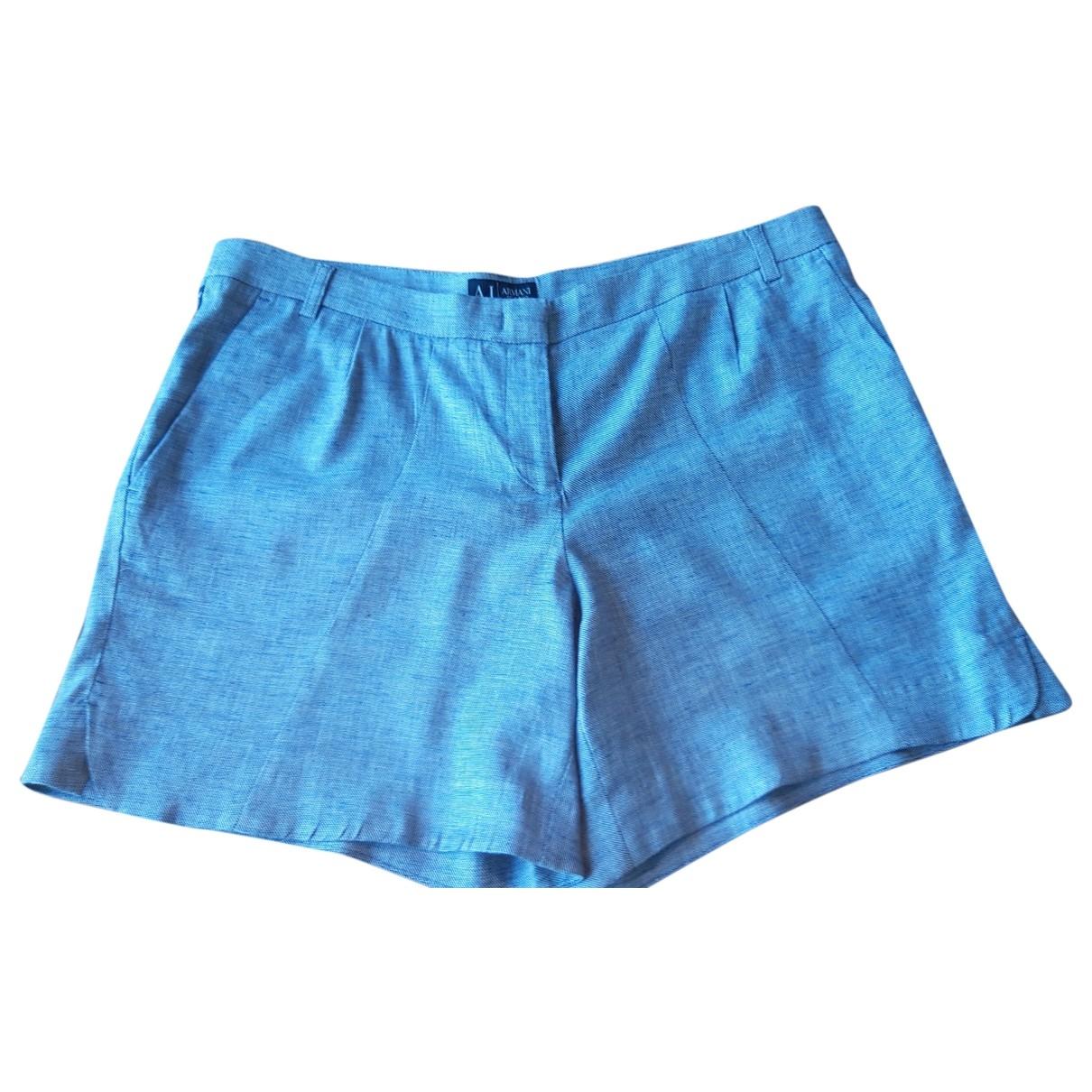 Armani Jeans \N Shorts in  Blau Leinen