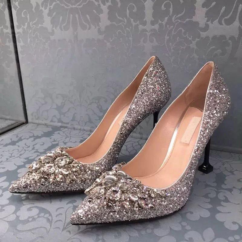 Ericdress Stiletto Heel Rhinestone Wedding Shoes