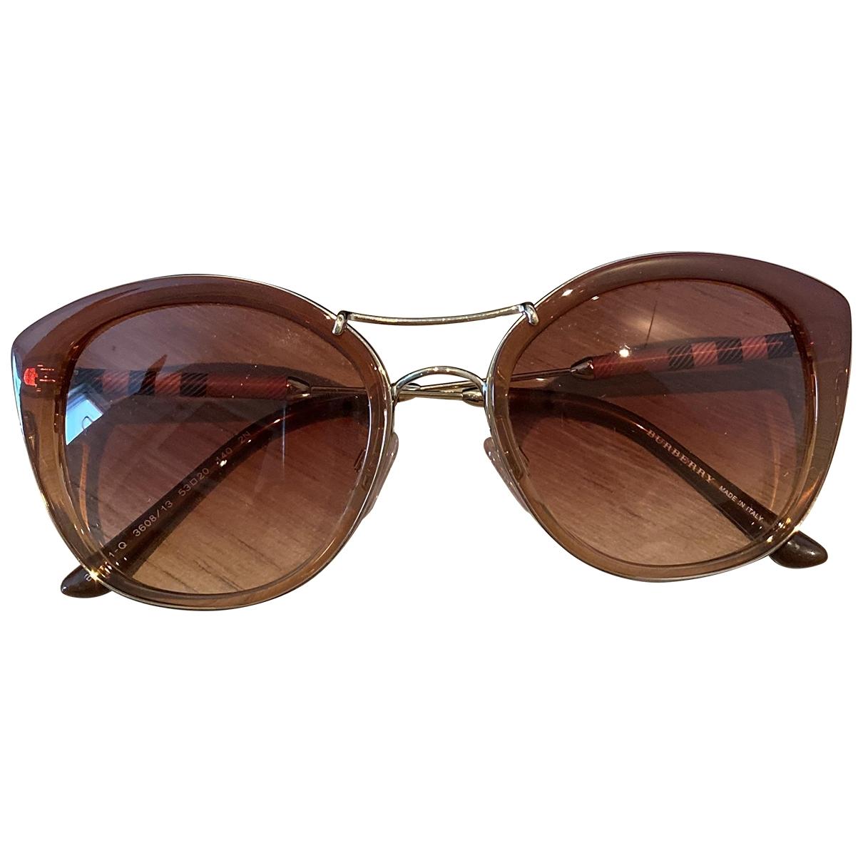 Burberry \N Sonnenbrillen in  Rosa Kunststoff