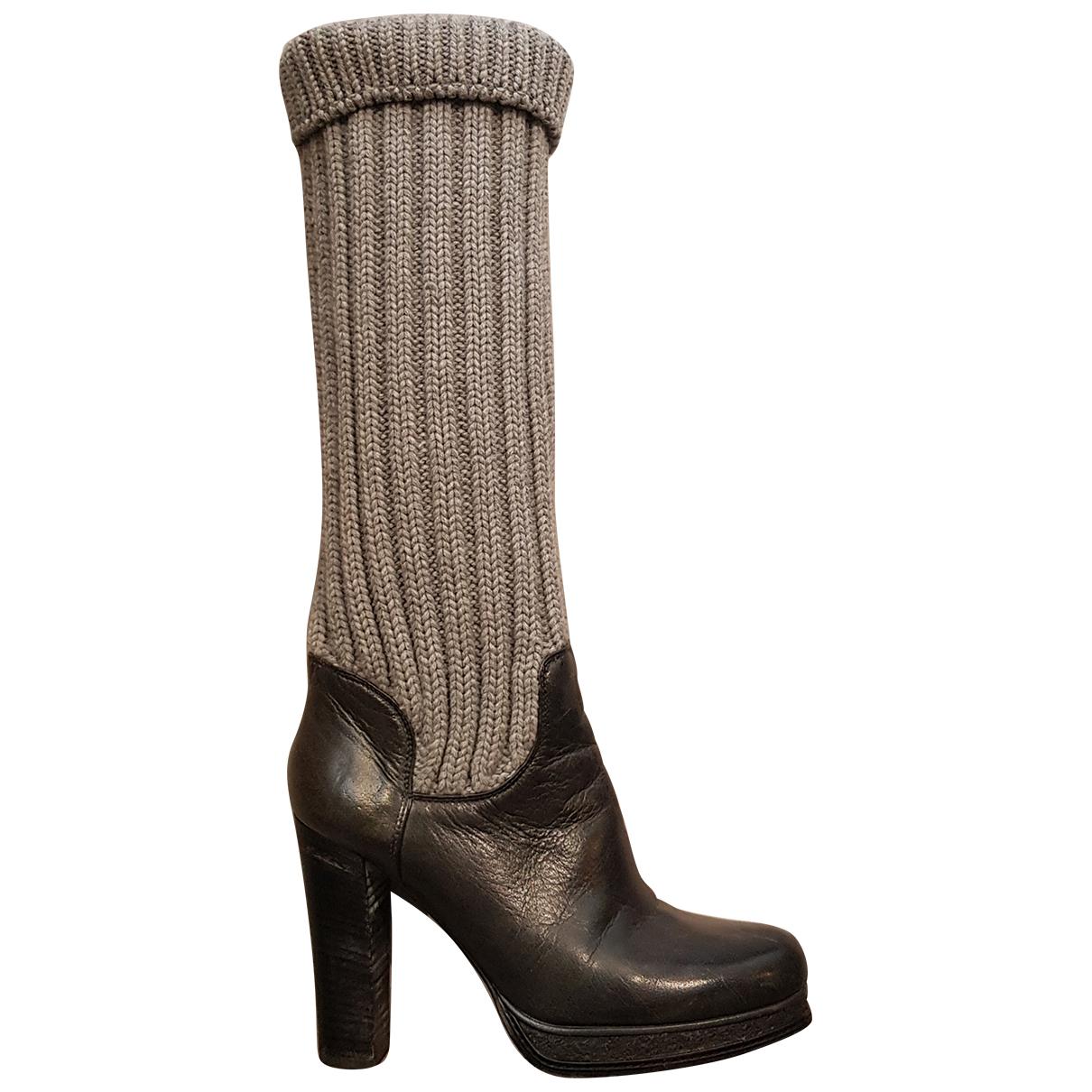 Dolce & Gabbana \N Stiefel in  Grau Leder