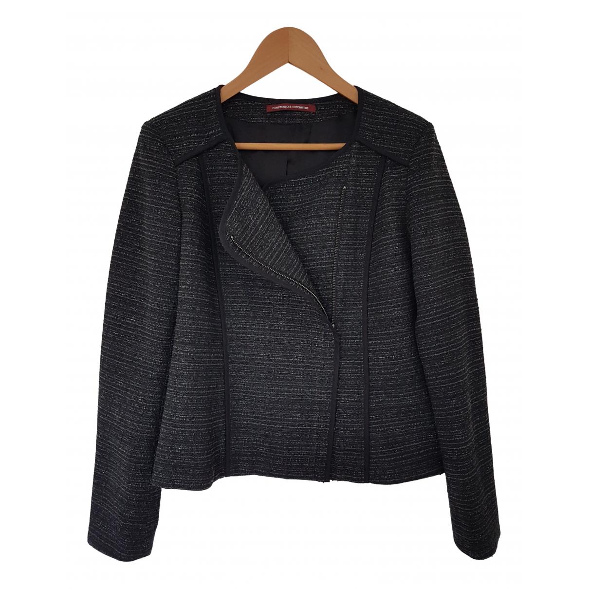 Comptoir Des Cotonniers - Veste   pour femme en tweed - anthracite