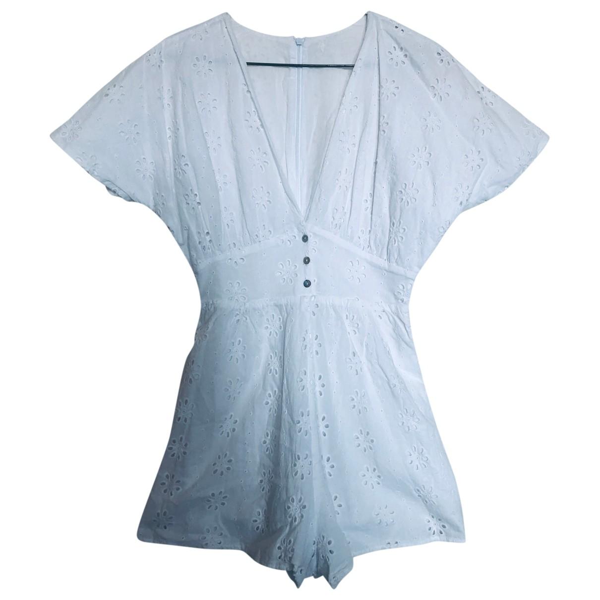 Zara - Combinaison   pour femme en coton - blanc