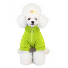 1pc Dog Zipper Front Sweater