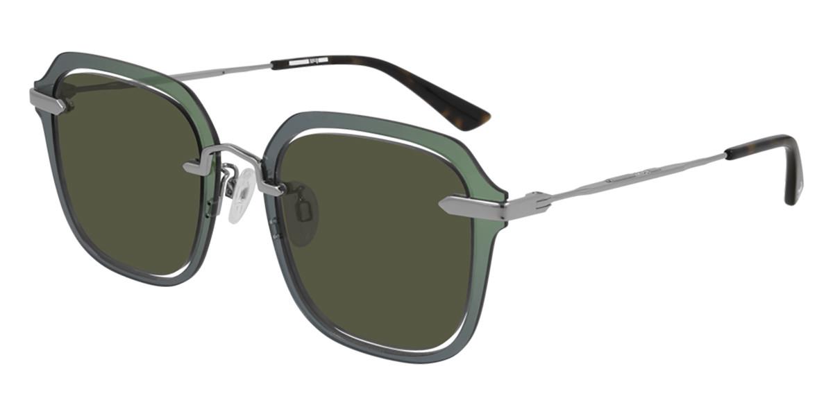 McQ MQ0283S 003 Men's Sunglasses Green Size 51 - Free RX Lenses
