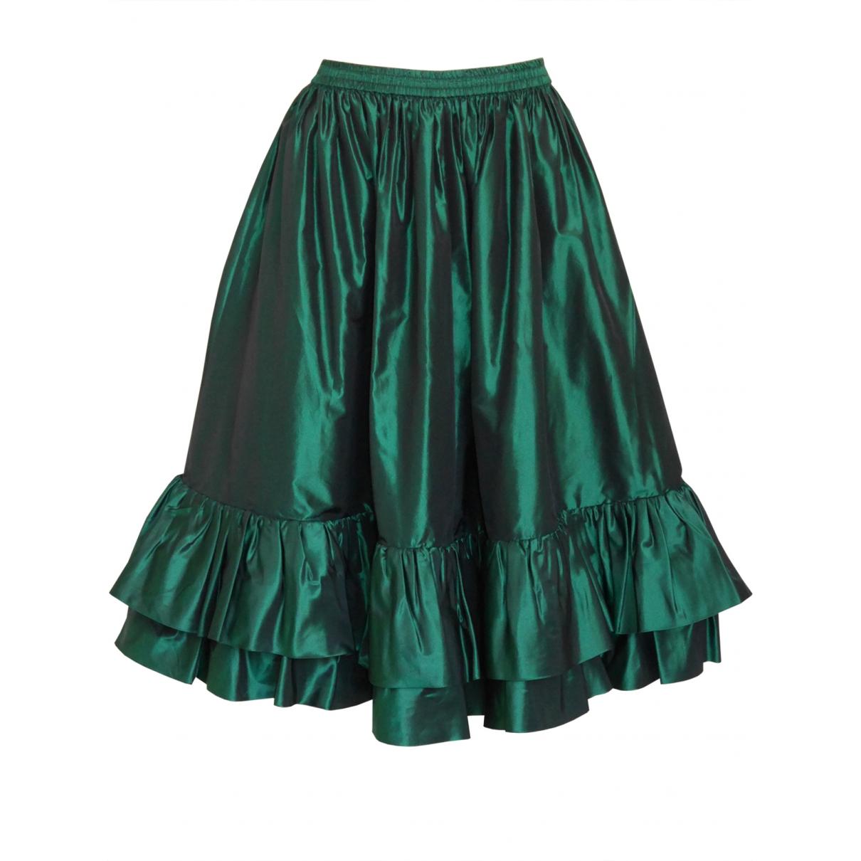 Yves Saint Laurent \N Green Silk skirt for Women 38 FR