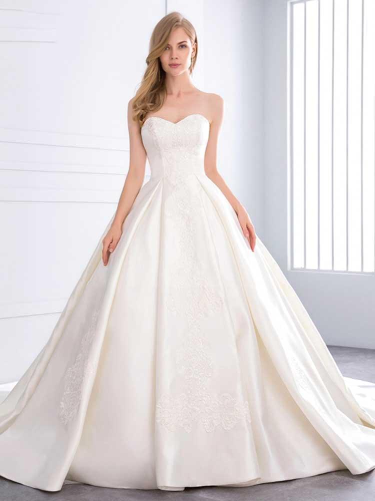 cariño vestidos de novia sin tirantes de encaje vestidos de novia | espalda abierta vestidos de novia plisados