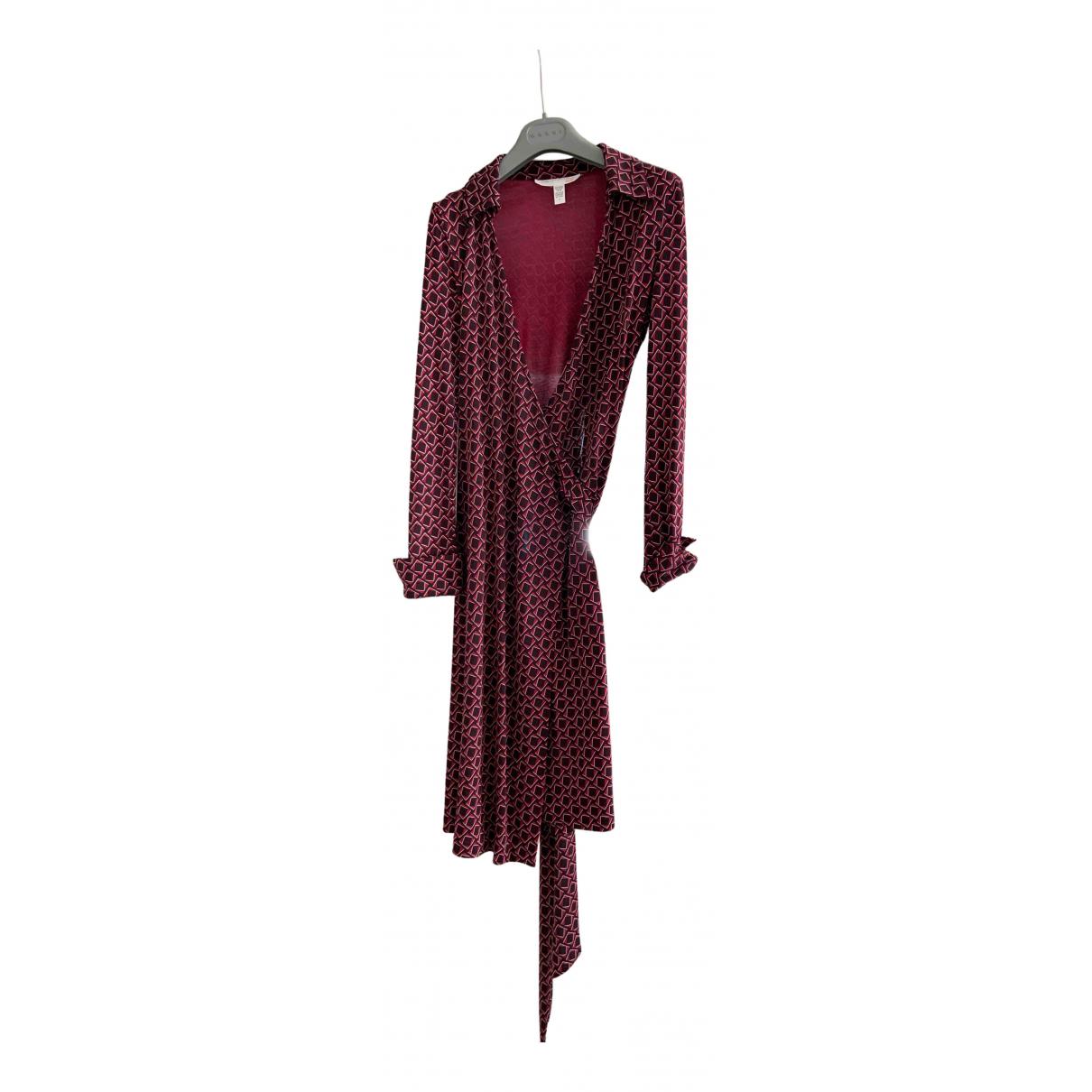 Diane Von Furstenberg \N Kleid in  Bordeauxrot Seide