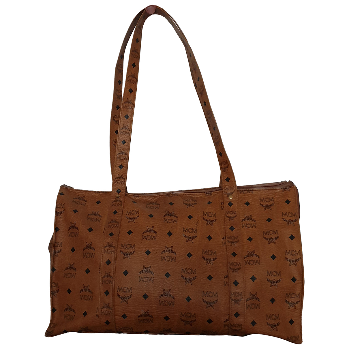 Mcm - Sac de voyage   pour femme en cuir - marron