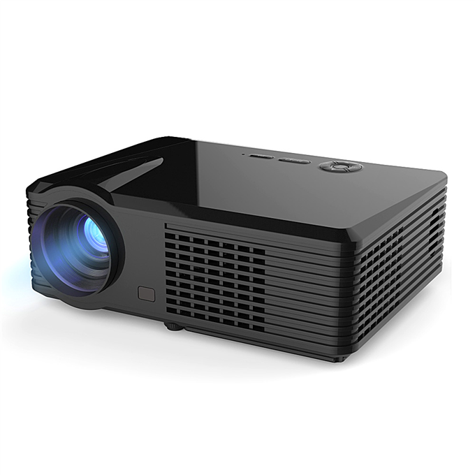 PRS200 Multifunctional Home Theater LED Projector 1500LM 800x480 with Keystone Correction for Desktop Laptop