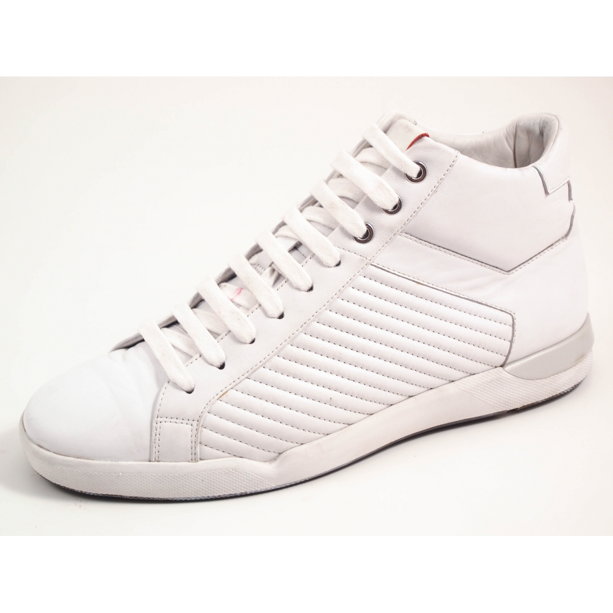 Hugo Boss \N White Leather Trainers for Men 40 EU