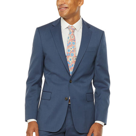 Stafford-Super Slim Fit Stretch Suit Jacket, 46 Regular, Blue