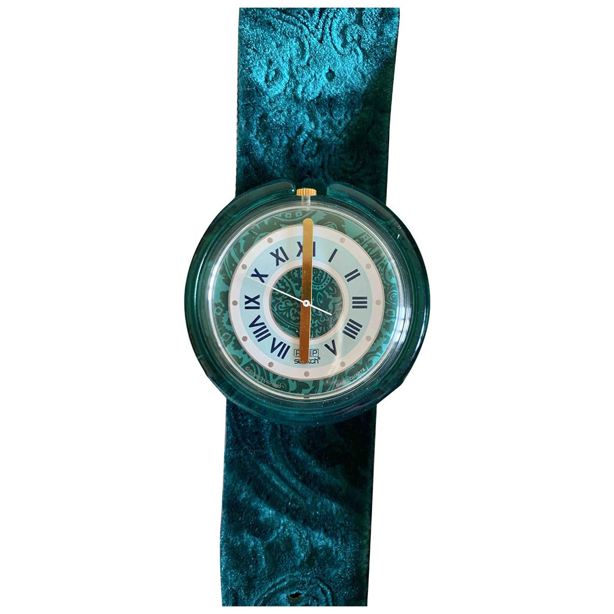 Swatch - Montre   pour femme en caoutchouc - vert