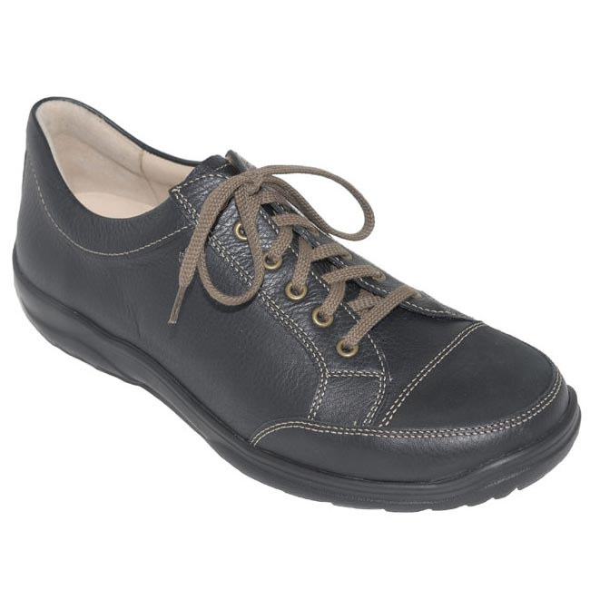 Finn Comfort Alamo Black Leather 7 Uk