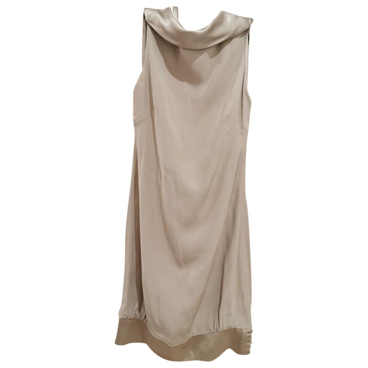 Azzaro \N Beige Silk dress for Women 36 FR
