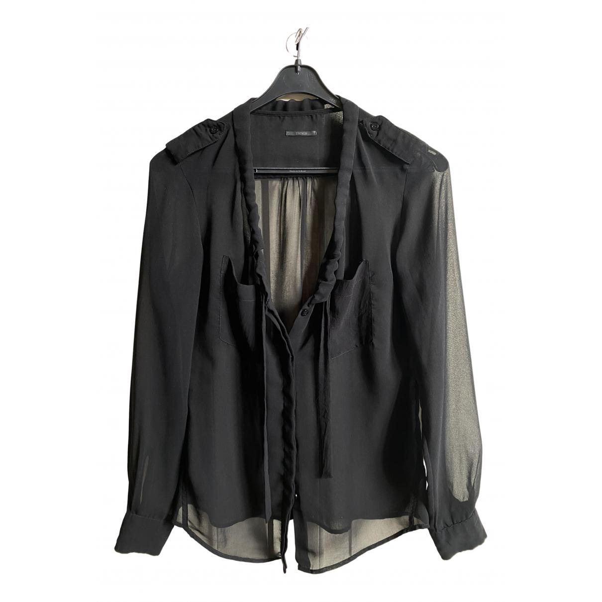 Ikks - Top   pour femme en coton - noir